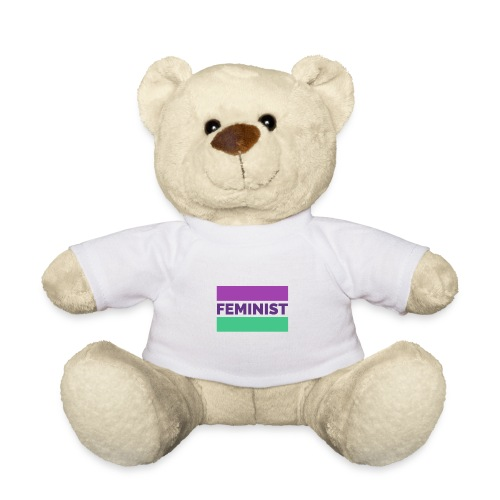 colorful t shirt maker with a feminist - Osito de peluche