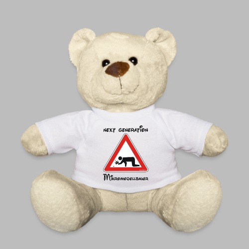 Warnschild Mikromodellbauer Next Generation - Teddy