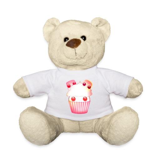 harajuku kawaii cupcake muffins med marshmallows - Teddy Bear