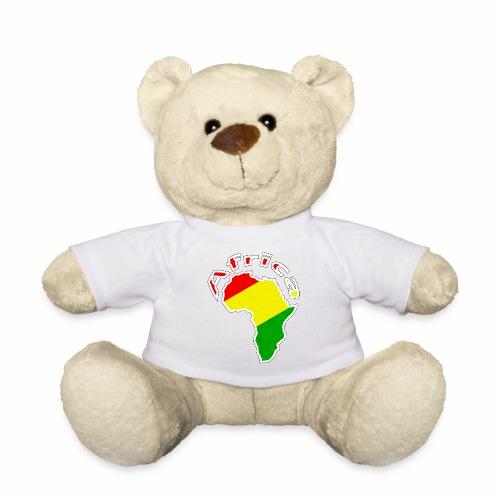 Afrika - rot gold grün - Teddy