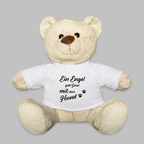 EIN ENGEL GEHT GASSI MIT DEM HUND - V2 - Black - Teddy