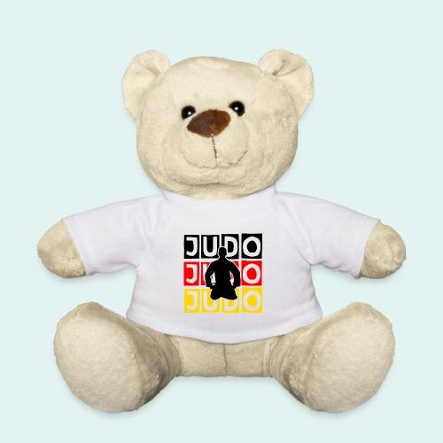 Judo Motiv Schwarz Rot Gold - Teddy