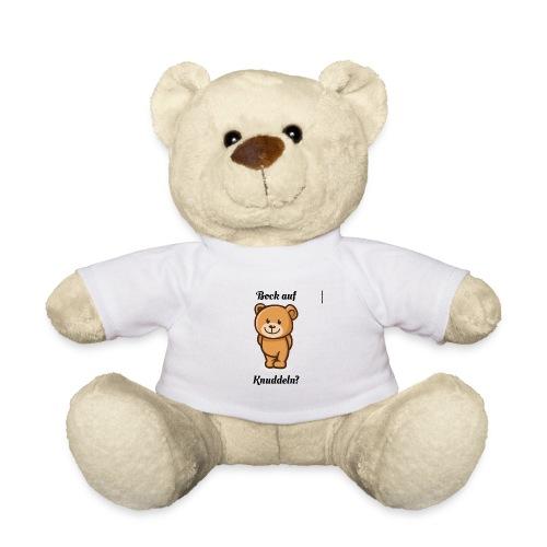 Teddy-Bär: Bock auf Knuddeln - black on white - Teddy