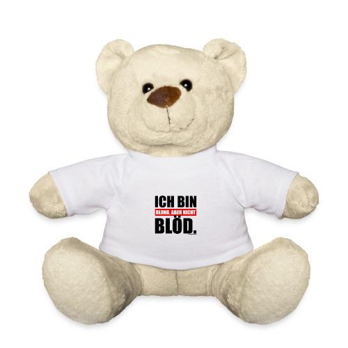 Spruch Ich bin blond, aber nicht blöd - b-o-w - Teddy