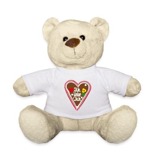 Lebkuchenherz Ich liebe Dich - Teddy