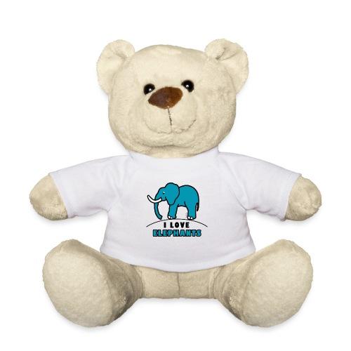 Blauer Elefant - I LOVE ELEPHANTS - Teddy