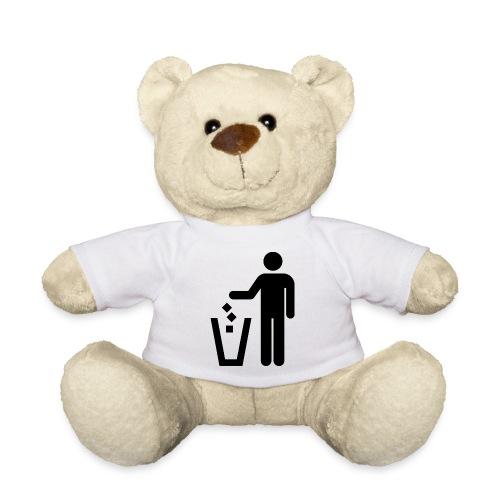 Strichmännchen Mülleimer - Teddy