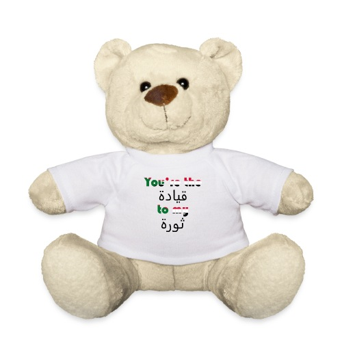 You're the qeyada to my revolution - Teddy Bear