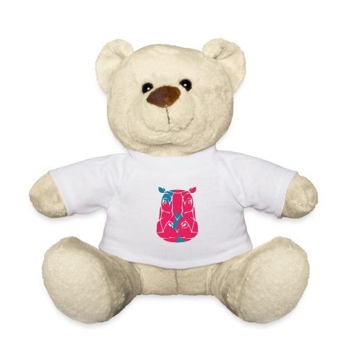 Hippo in het roze en blauw - Teddy
