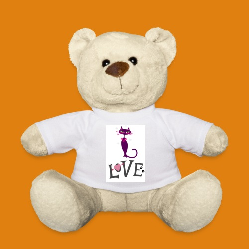 t-shirt cat love - Teddy Bear