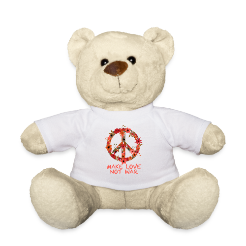 Hippie flowers peace - Teddy Bear