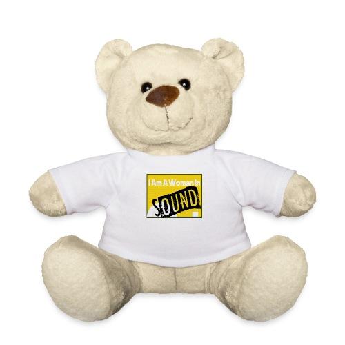 I am a woman in sound - yellow - Teddy Bear