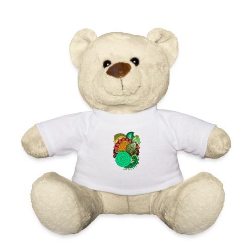 Coloured Leaf Mandala - Teddy Bear