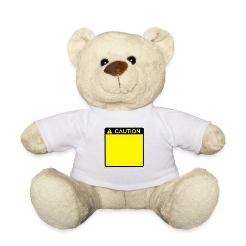Caution Sign (2 colour) - Teddy Bear