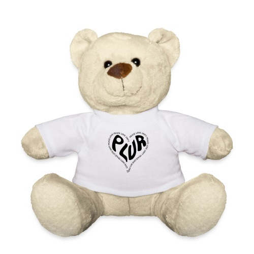 PLUR Peace Love Unity & Respect ravers mantra in a - Teddy Bear
