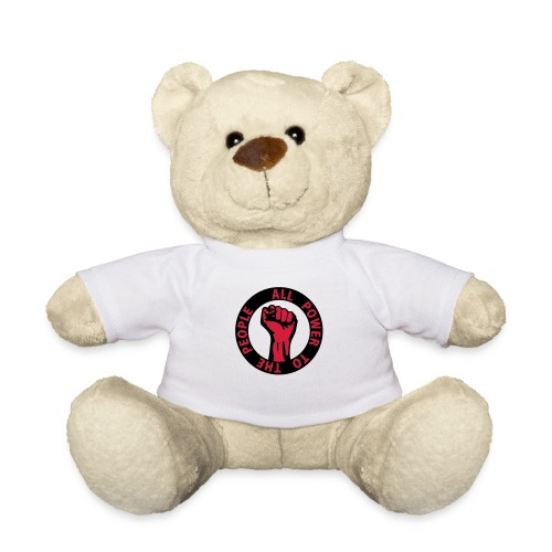 2 colors - all power to the people - against - Teddy