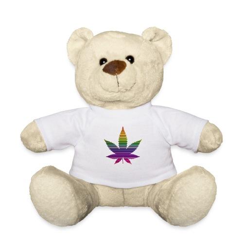 Weedblatt Design mit farbenfrohem Hintergrund - Teddy