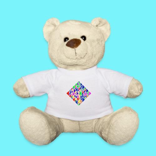 A square school of triangular coloured fish - Teddy Bear