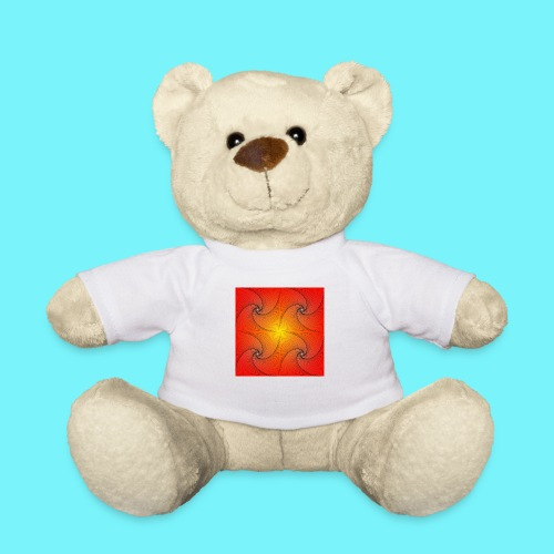 Pursuit curve in red and yellow - Teddy Bear