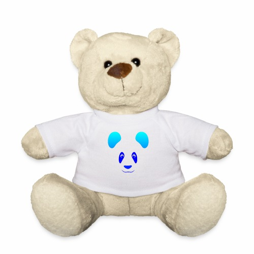 Happy Panda - Blue - Teddy Bear