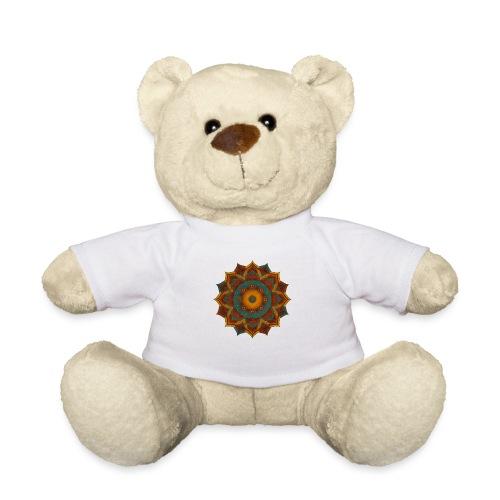 HANDPAN hang drum MANDALA teal red brown - Teddy