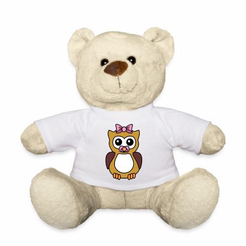 Eule Mädchen Schnuller - Teddy