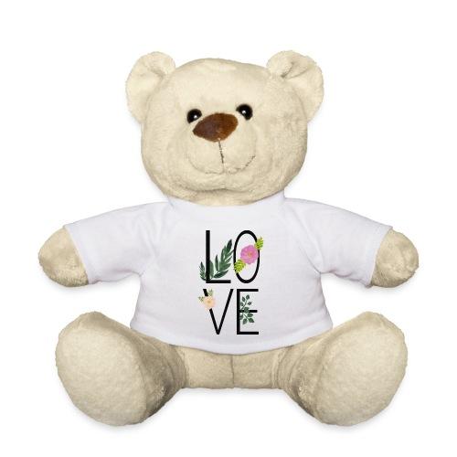 Love Sign with flowers - Teddy Bear