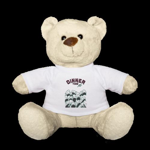 Dinner Time Funny Retro 90s Shark Shirt - Teddy Bear