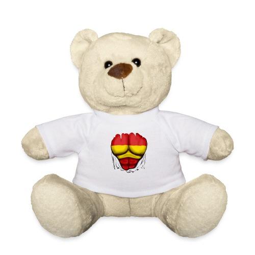 España Flag Ripped Muscles six pack chest t-shirt - Teddy Bear