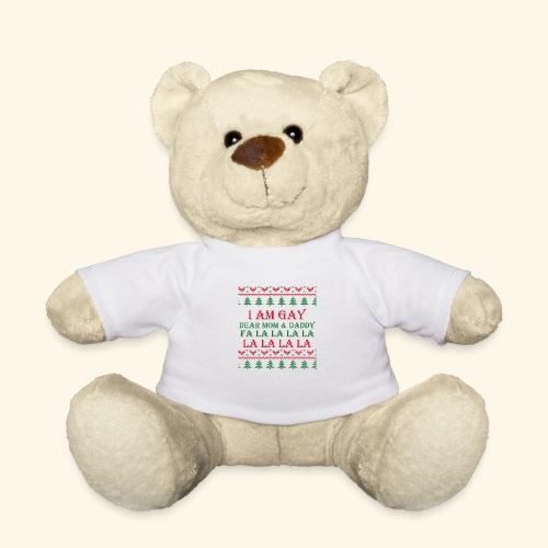 Gay Christmas sweater r+g - Miś w koszulce
