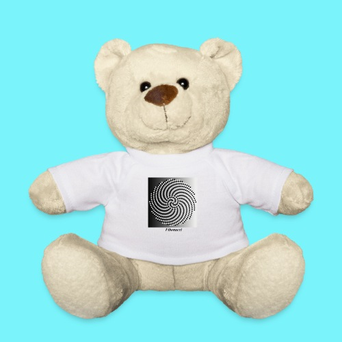 Fibonacci spiral pattern in black and white - Teddy Bear