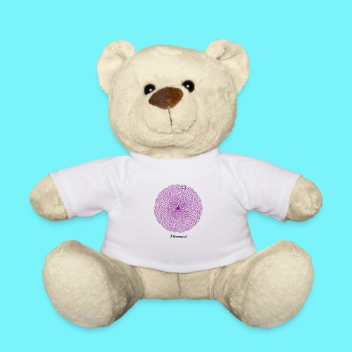 Fibonacci webs in purple - Teddy Bear