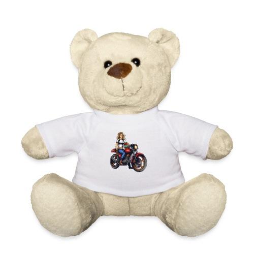 Girl on Bike - Teddy Bear