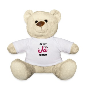 Sie hat JA gesagt - JGA T-SHirt - JGA Shirt -party - Teddy