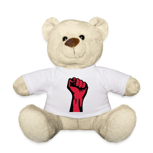 2 colors - against capitalism working class war - Teddy