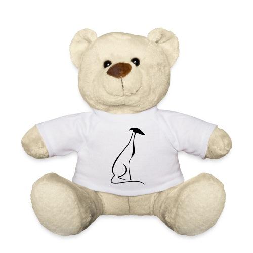Sitzender Windhund - Teddy