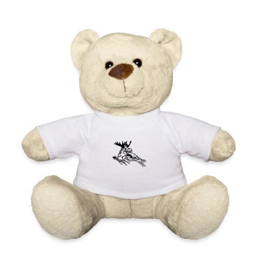 Liegender Elch - Teddy
