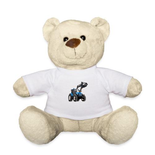Blauer Traktor mit Frontlader - Teddy