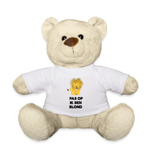 Pas op ik ben blond een cartoon van blonde leeuw - Teddy