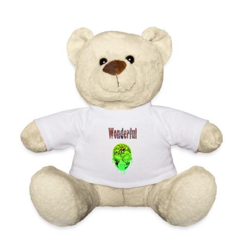 Maske mit Wonderful Schriftzug - Teddy