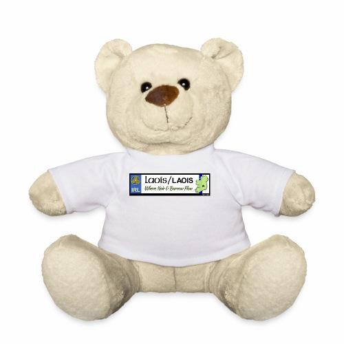 LAOIS, IRELAND: licence plate tag style decal eu - Teddy Bear