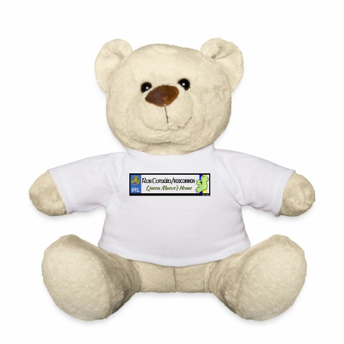 ROSCOMMON, IRELAND: licence plate tag style decal - Teddy Bear