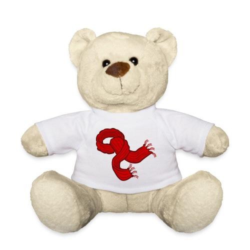 Red Christmas scarf - Teddy