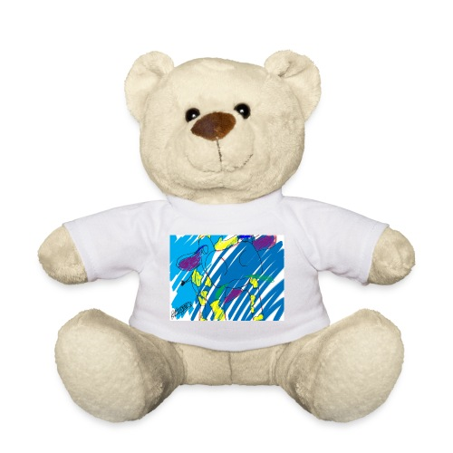 Signed Rainbow Cow - Teddy Bear