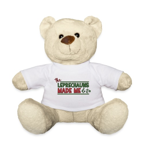The Leprechauns made me do it - St. Patrick Kobold - Teddy Bear