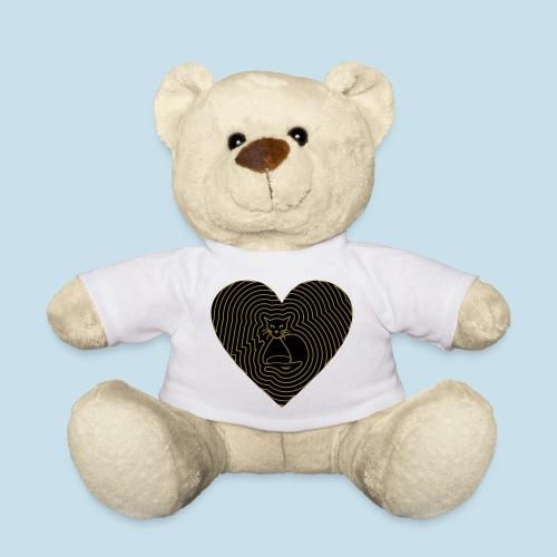 Katzen Herz Spirale 2 Färbig - Teddy