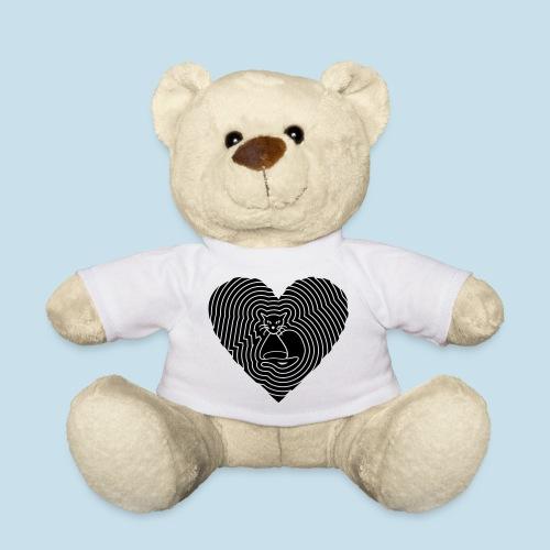 Katzen Spirale Herz - Teddy