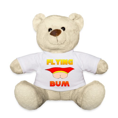 Flying Bum (face on) with text - Teddy Bear