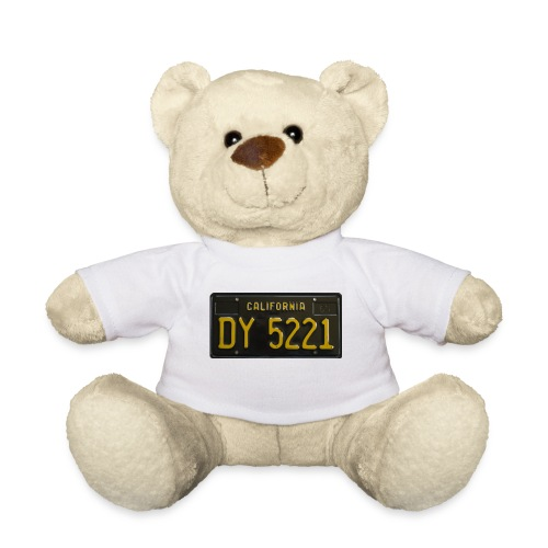CALIFORNIA BLACK LICENCE PLATE - Teddy Bear