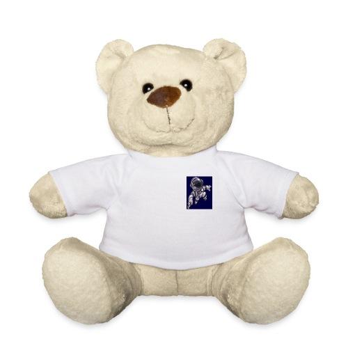 Leaping Astronaut on Blue - Teddy Bear